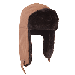 Изображение Шапка-ушанка короткий ворс